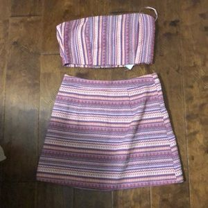 Cute tube top and matching skirt
